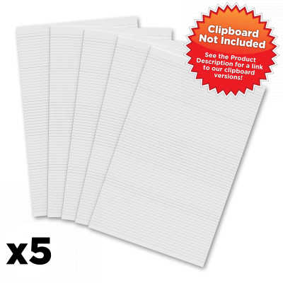 5 Pack - Vertical 11 x 17 MDF Clipboard Notepad