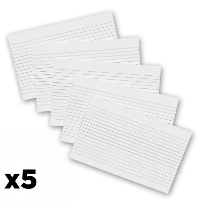 5 Pack - 8 x 5 Notepads - Ruled