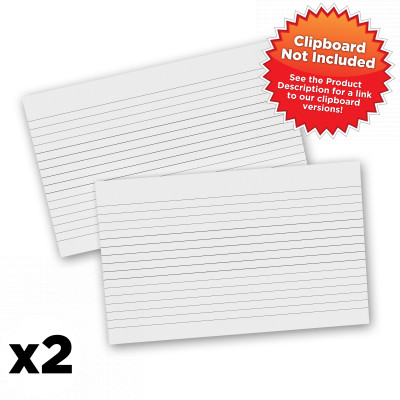 2 Pack - WhiteCoat Clipboard Notepads