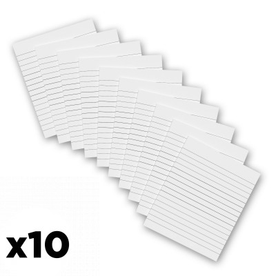 10 Pack - 4 x 4.75 Notepads