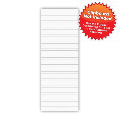 Vertical WhiteCoat Clipboard Notepad