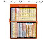 WhiteCoat Clipboard - ORANGE - Anesthesia Edition