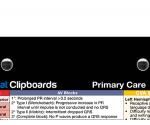 WhiteCoat Clipboard - Black - Primary Care Edition - Slightly Damaged