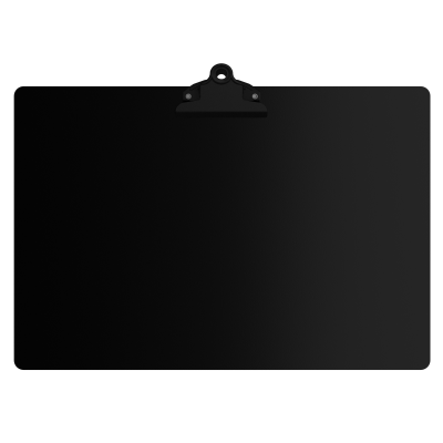 Blackout Aluminum 17 x11 Ledger Clipboard with Butterfly Clip