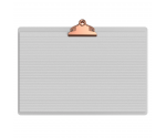White Aluminum 17 x11 Ledger Clipboard with Butterfly Clip