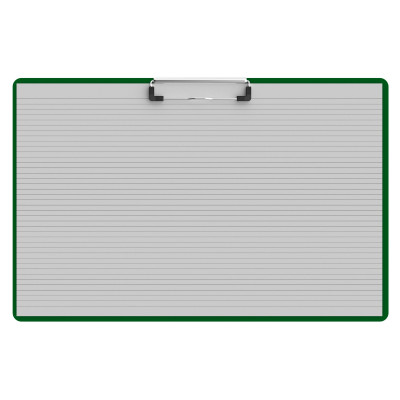 Horizontal Ledger 17 x 11 Acrylic Clipboard - Green