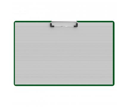 Horizontal Ledger 17 x 11 Acrylic Clipboard - Green