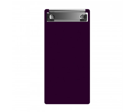 "Acrylic Server Sized 4.25"" x 9.25"" Clipboard - Purple"