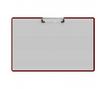 Horizontal Ledger 17 x 11 Acrylic Clipboard - Red
