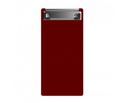 "Acrylic Server Sized 4.25"" x 9.25"" Clipboard - Red"