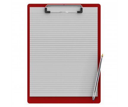 Letter Size 8.5 x 11 Aluminum Clipboard | Red