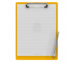 Letter Size 8.5 x 11 Aluminum Clipboard | Yellow