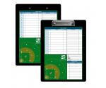 Flat Aluminum Baseball Clipboard
