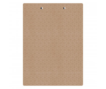 Letter Size MDF 8.5 x 11 Geometric Clipboard