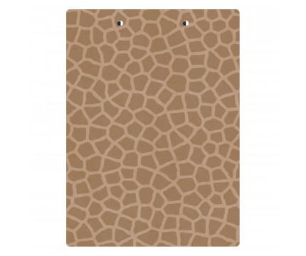 Letter Size MDF 8.5 x 11 Giraffe Clipboard