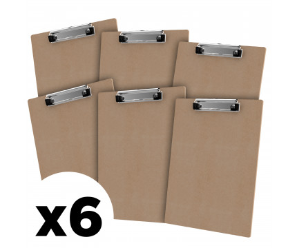 Letter Size 8.5 x 11 MDF 6-Pack