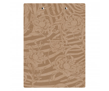 Letter Size MDF 8.5 x 11 Floral Clipboard