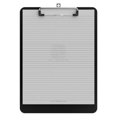 Letter Size 8.5 x 11 Plastic Clipboard | Black