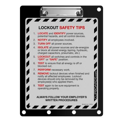 Lockout Clipboard | Black