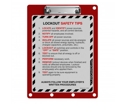 Lockout Clipboard   Red