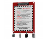 Lockout Clipboard | Red