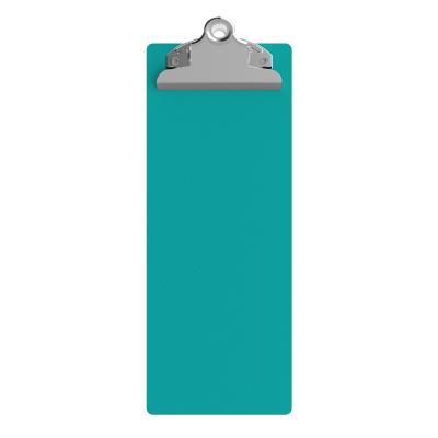 4.25 x 11 Aluminum Server Clipboard - Teal