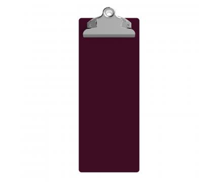 4.25 x 11 Aluminum Server Clipboard - Wine