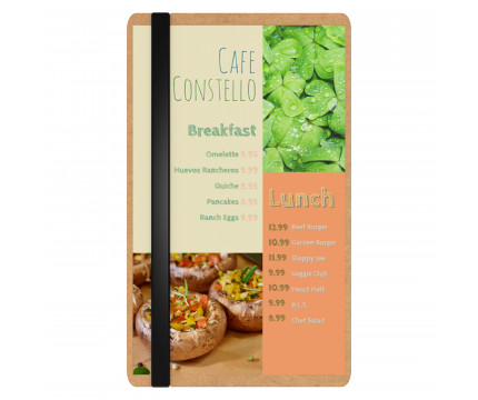 MDF Single Band Large Vertical Menu Board