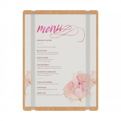 MDF Vertical Menu Board with Bands