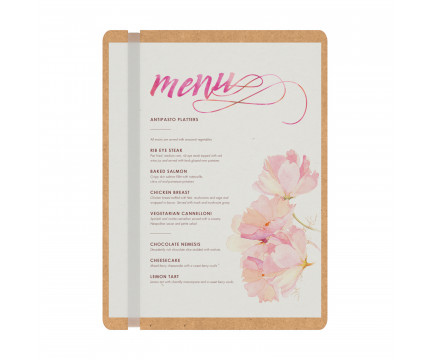 MDF Single Band Vertical Menu Board