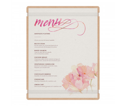 MDF Menu Board with Bands