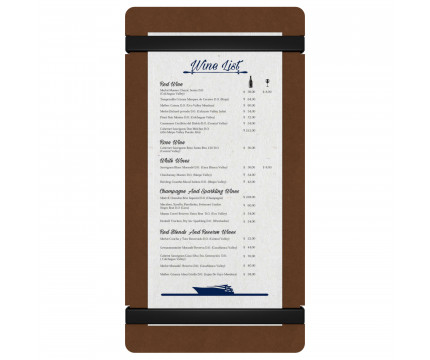 HDF Tall Menu Holder
