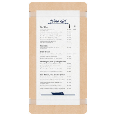 MDF Tall Menu Holder