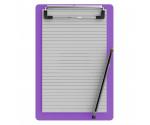 Memo Size 5 x 8 Aluminum Clipboard | Lilac