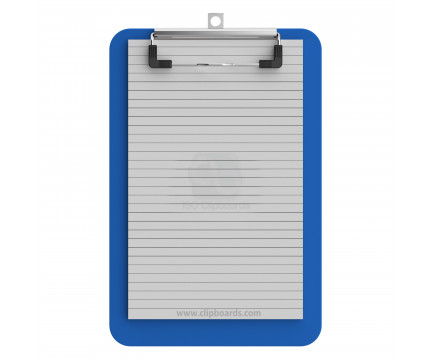 Memo Size 5 x 8 Plastic Clipboard | Blue