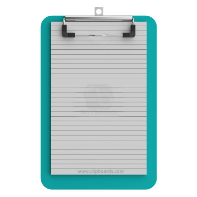 Memo Size 5 x 8 Plastic Clipboard | Teal