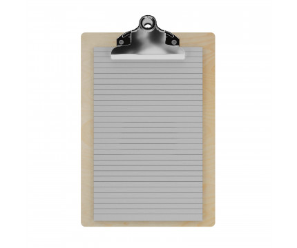 "Birch Memo Sized 5"" x 8"" Butterfly Clipboard"