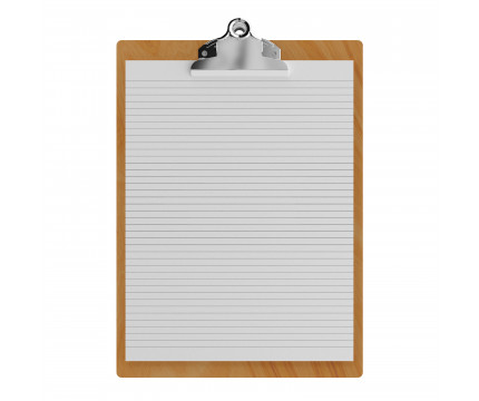"""Maple Letter Sized 8.5"""" x 11"""" Butterfly Clipboard"""