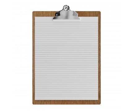 """Red Oak Letter Sized 8.5"""" x 11"""" Butterfly Clipboard"""