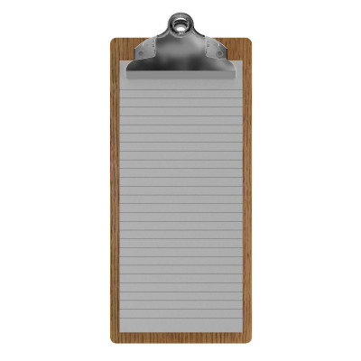Red Oak Server Butterfly Clipboard