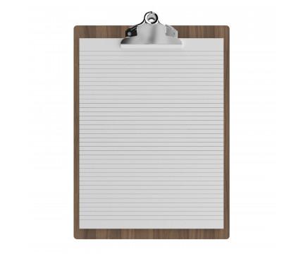 Walnut Letter Sized 8.5 Butterfly Clipboard