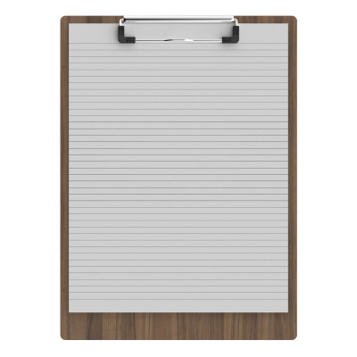 "Walnut Letter Sized 8.5"" x 11"" Clipboard"