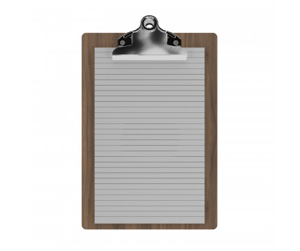 "Walnut Memo Sized 5"" x 8"" Butterfly Clipboard"