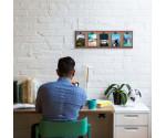 Photo Clip Wall Frame - Walnut