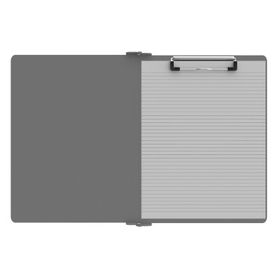 Right Folding Ledger ISO Clipboard |Silver