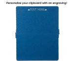 Blue Hammertone ISO Clipboard