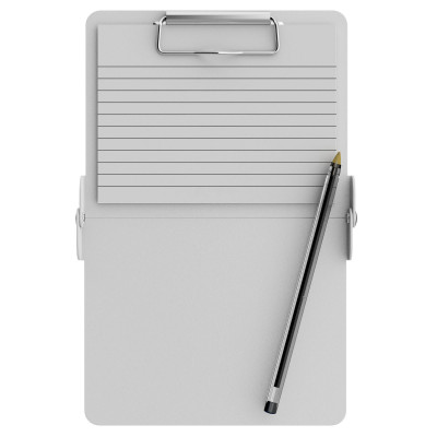White Mini ISO Clipboard