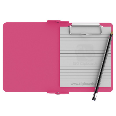 Pink Mini Novel ISO Clipboard - Slightly Damaged