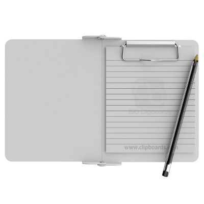 White Mini Novel ISO Clipboard - Slightly Damaged