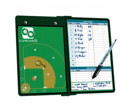 Green Baseball ISO Clipboard